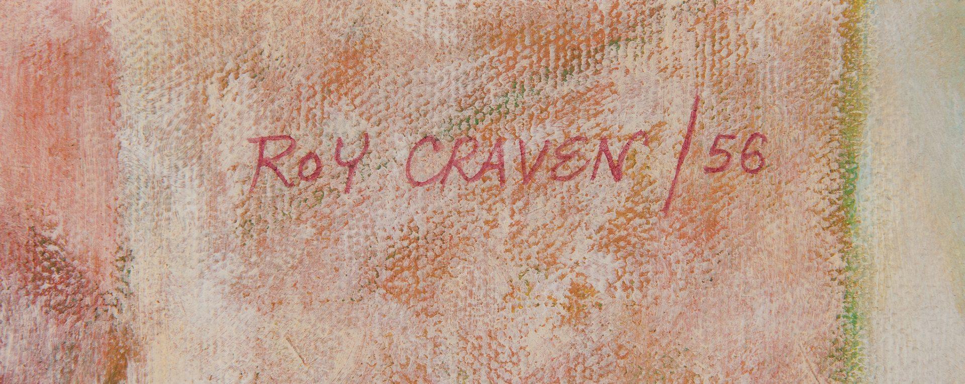 Lot 520: Roy Craven O/C Farmers' Market Scene