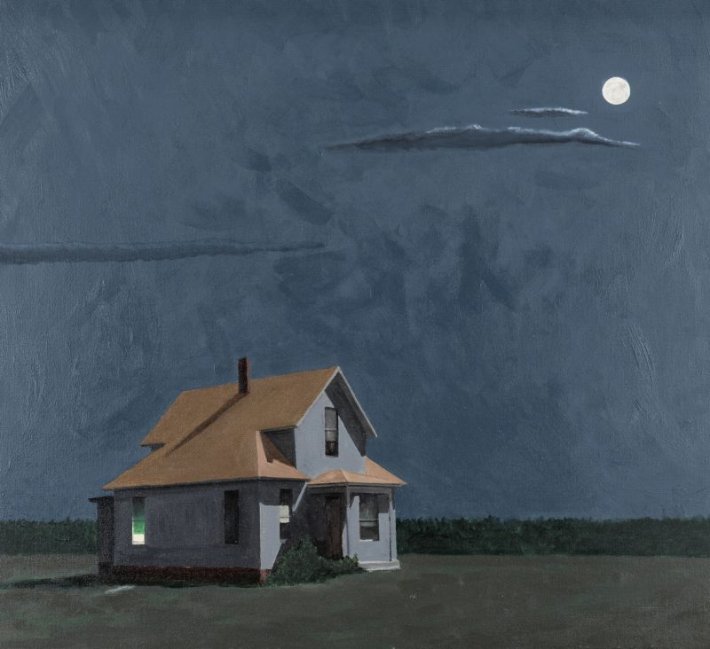 Lot 521: Joseph Richards O/C, Farmhouse Under Full Moon