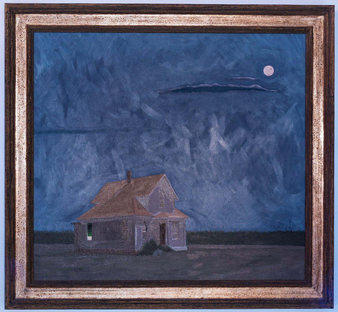 Lot 521: Joseph Richards O/C, Farmhouse Under Full Moon