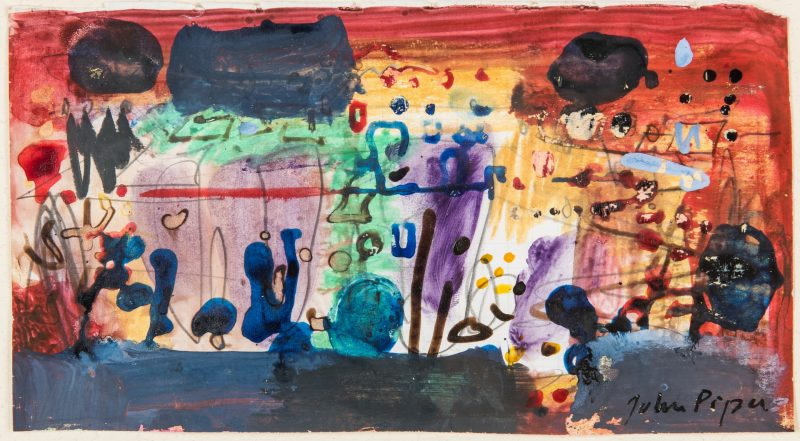 Lot 522: John Piper Mixed Media Abstract