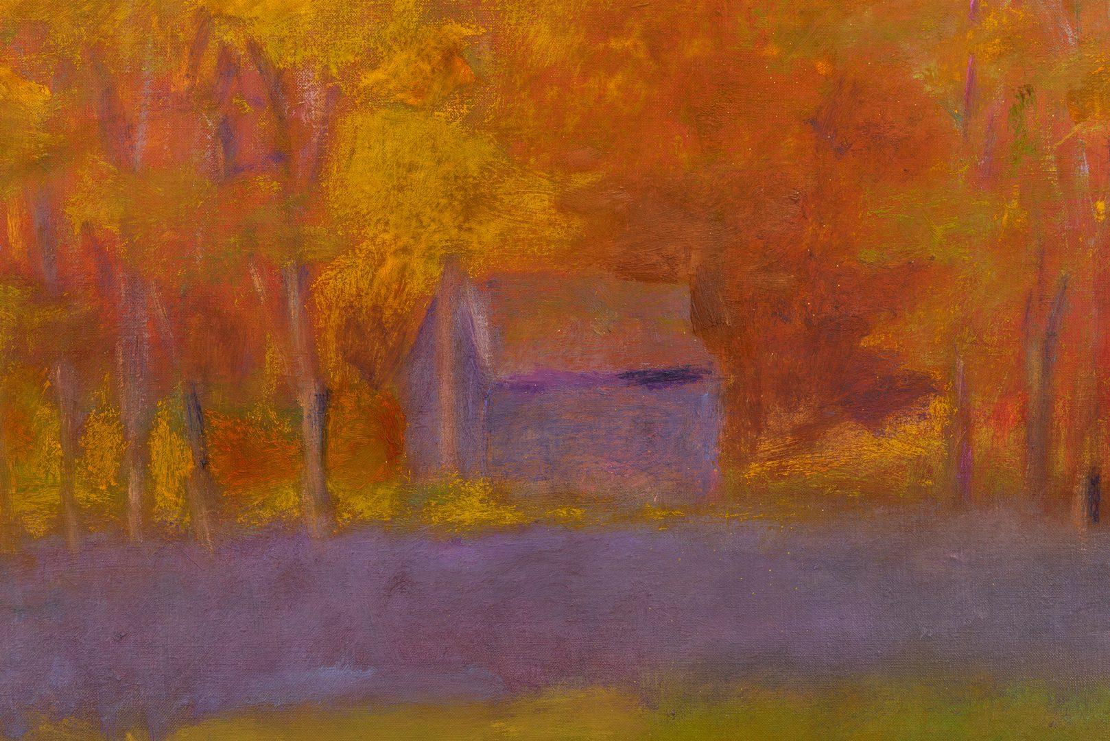 Lot 523: Wolf Kahn Oil on Canvas Landscape, Glow on the Ridge