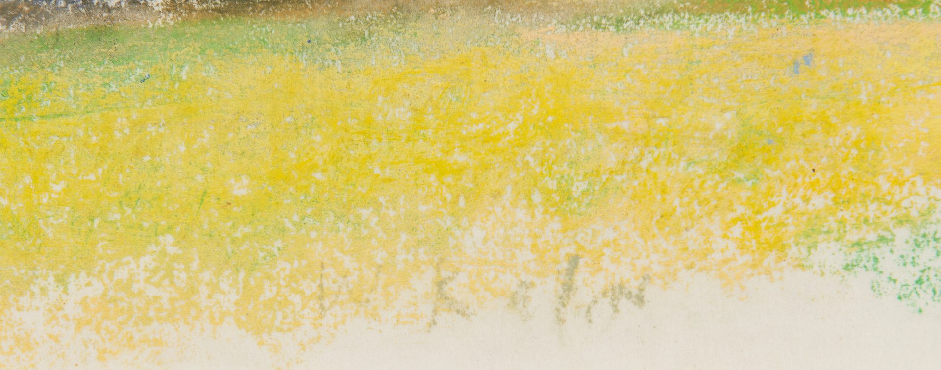 Lot 524: Wolf Kahn Pastel Landscape, Phippsburg, Maine