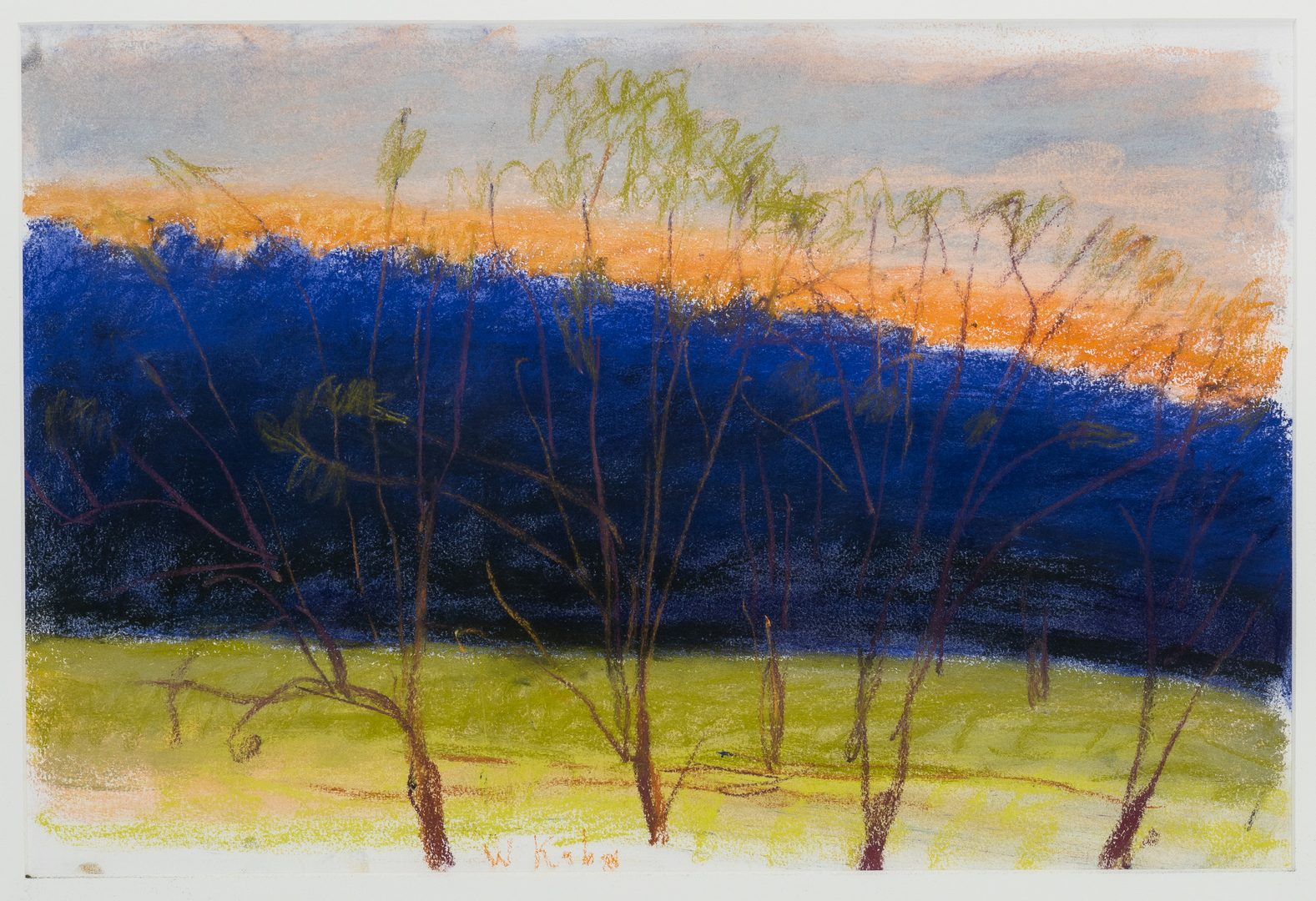 "Lot 525: Wolf Kahn pastel, ""Evening Breeze"""