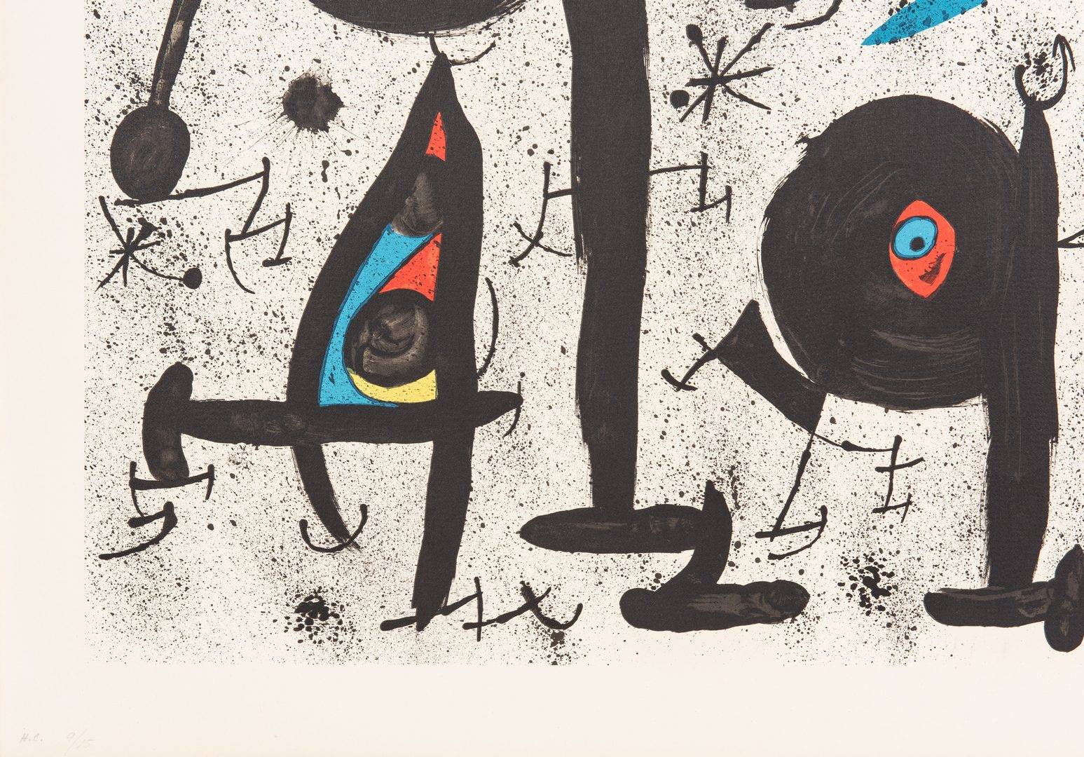 Lot 527: Joan Miro Limited Edition Lithograph, Homentage a Joan Prats