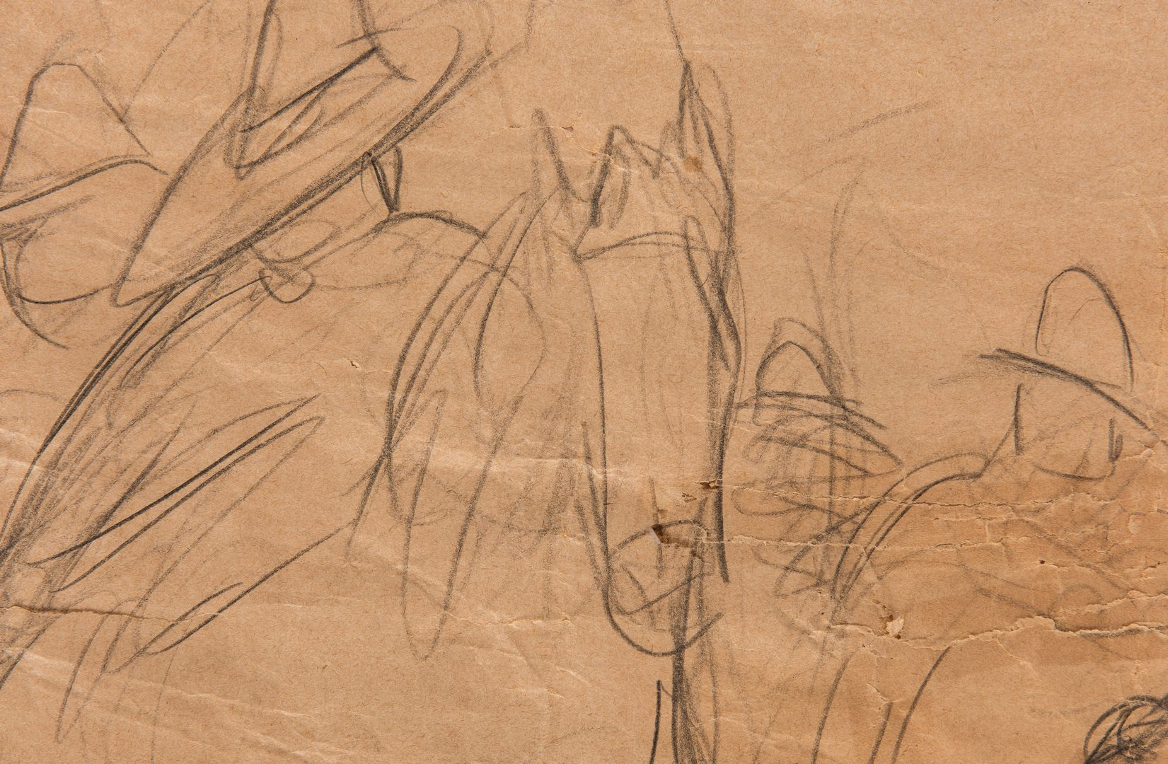 Lot 531: Diego Rivera Drawing, study for a mural
