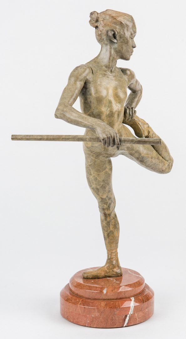 Lot 536: MacDonald Bronze Ballerina Sculpure, Warming Up