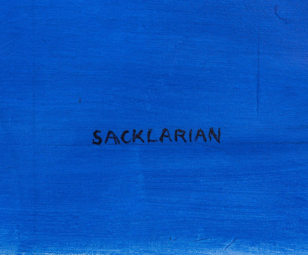 Lot 539: Untitled Abstract on Canvas by Stephen Sacklarian
