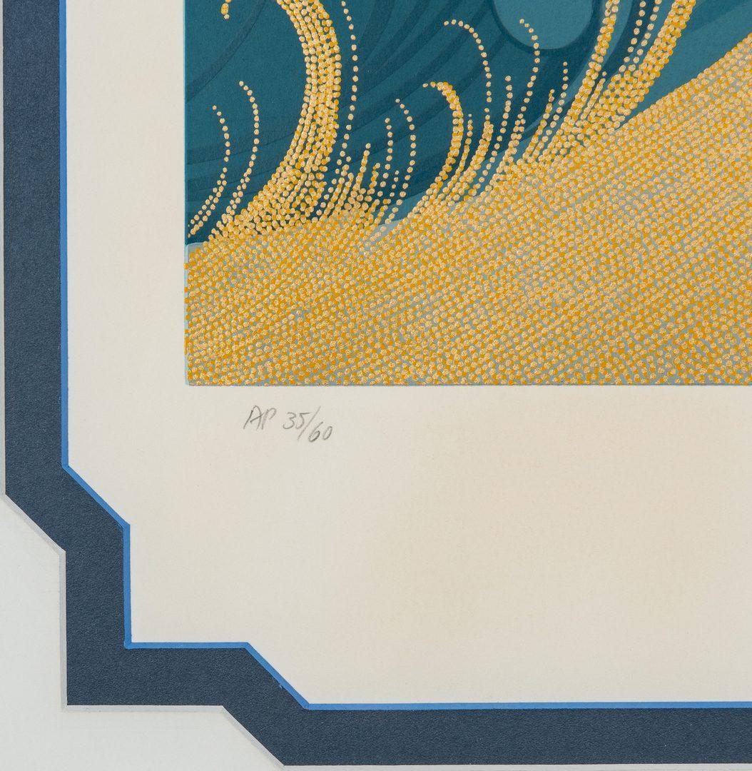 """Lot 542: Erte Serigraph AP 35/60 """"Swept Away"""""""