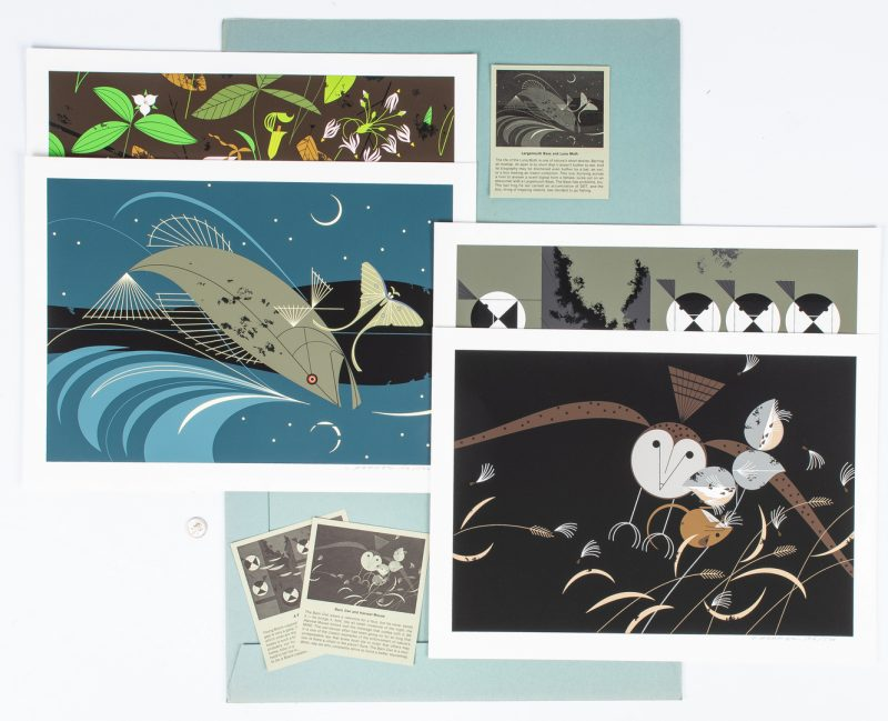 Lot 546: Portfolio of 4 Charley Harper Wildlife Serigraphs
