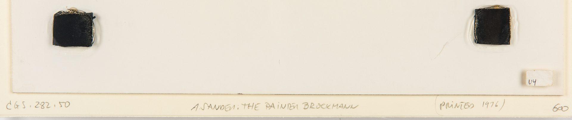Lot 549: 2 August Sander Gelatin Silver Prints, Painter Brockmann and Courtyard Musicians