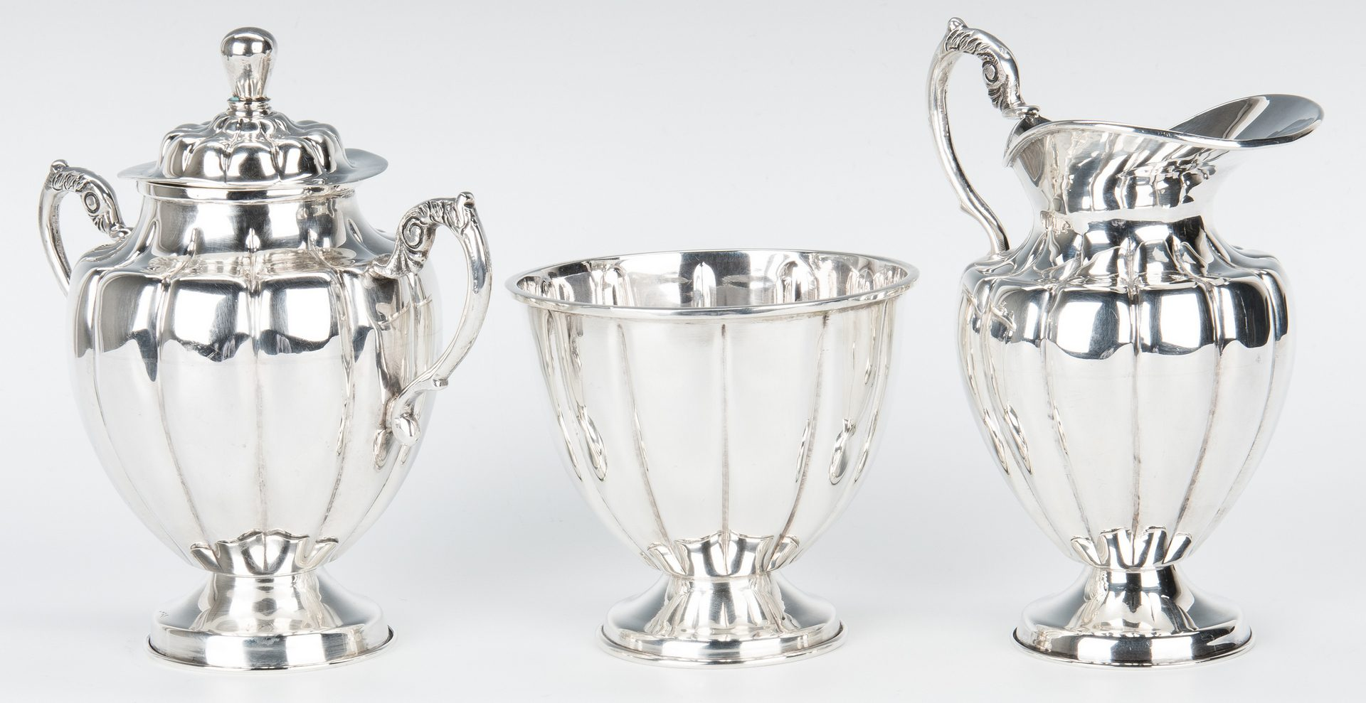 Lot 54: 6 pc. Mexican Sterling Tea Set w/ Sterling Tray