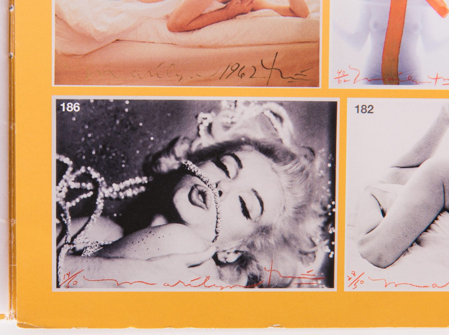Lot 551: Bert Stern Marilyn Monroe Last Sitting signed photograph plus 2 Books