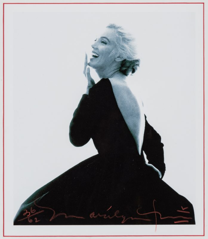 Lot 554: Bert Stern Marilyn Monroe Photograph, Black Dress, Last Sitting