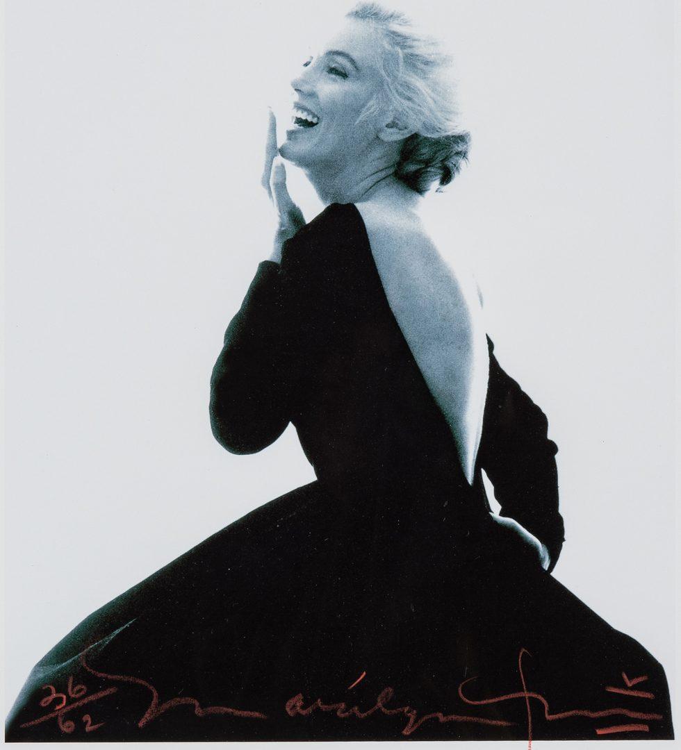 Lot 554: Bert Stern Marilyn Monroe Photograph, Black Dress, Last Sitting