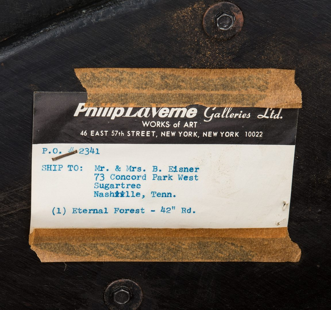 Lot 560: Philip & Kelvin LaVerne Eternal Forest Coffee Table