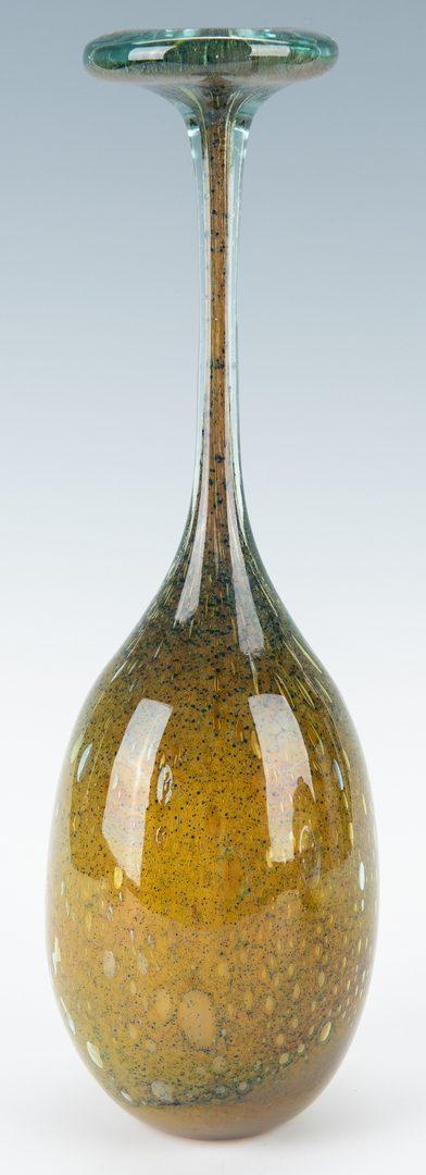 Lot 566: 2 Kent Ipsen Art Glass Vases