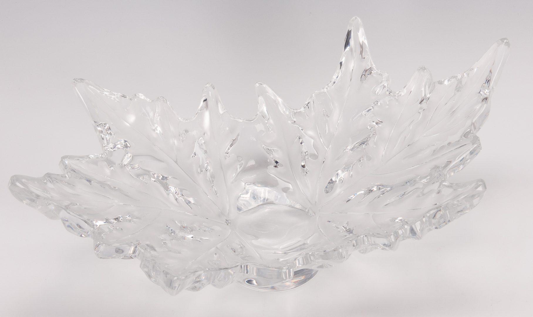 Lot 567: Lalique Champs Elysees Crystal Center Bowl