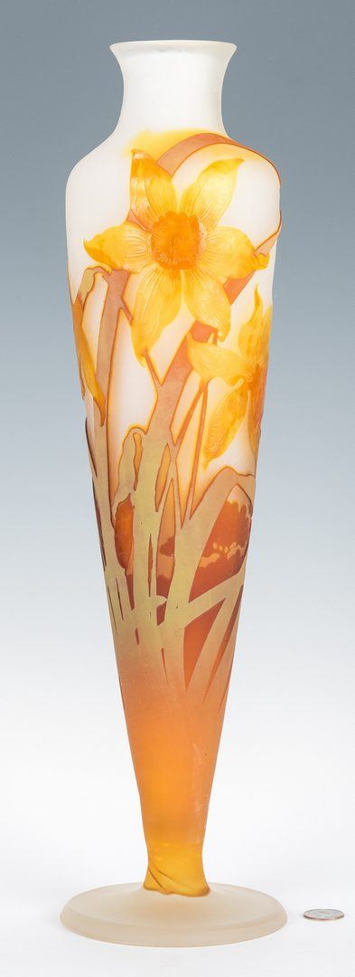 """Lot 571: Galle Narcissus or Daffodil Vase, 20"""" H"""