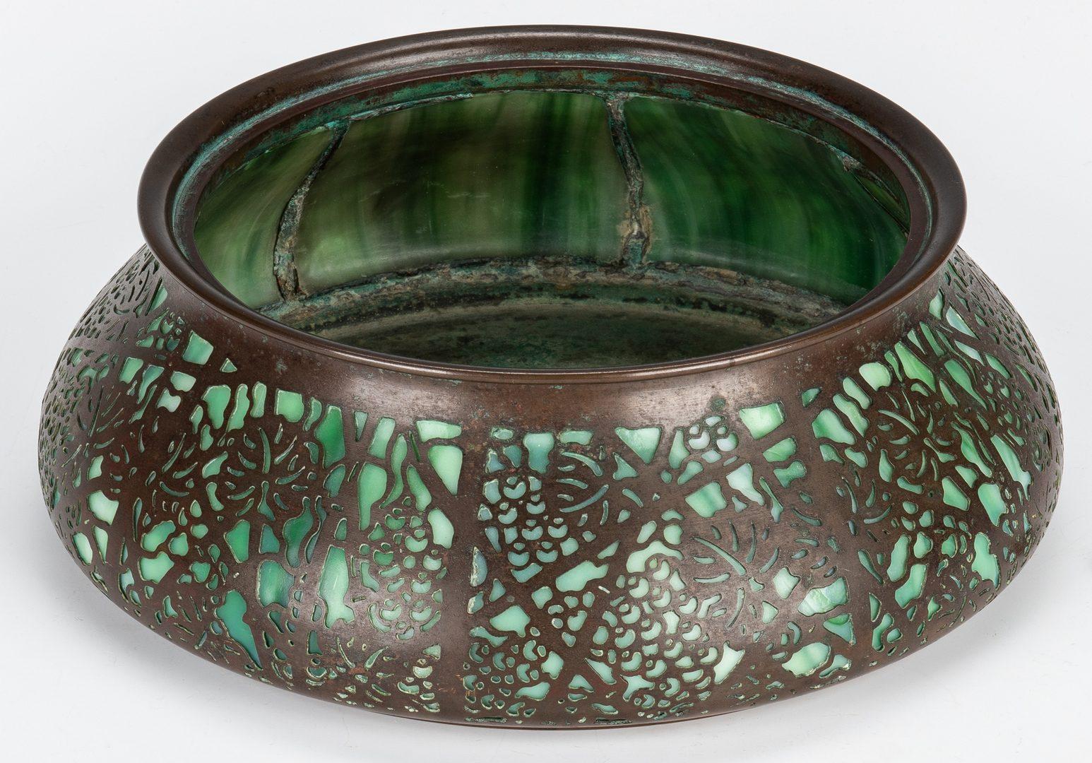 Lot 576: Tiffany Studios Glass and Bronze Jardiniere