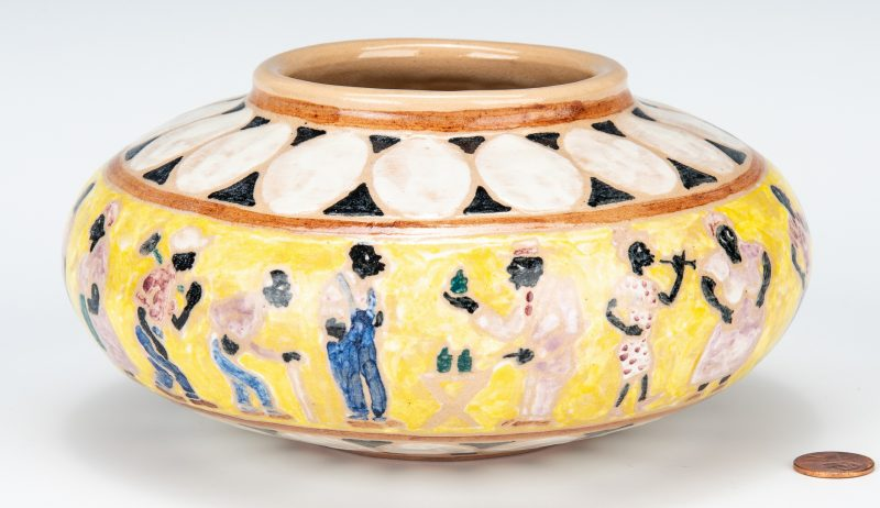 Lot 578: Shearwater Art Pottery Jar, Mac Anderson