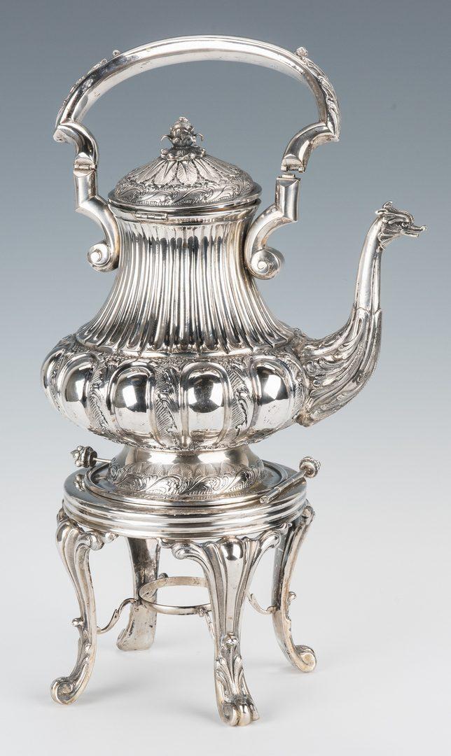 Lot 57: Continental 800 silver tea service, 201 oz t.