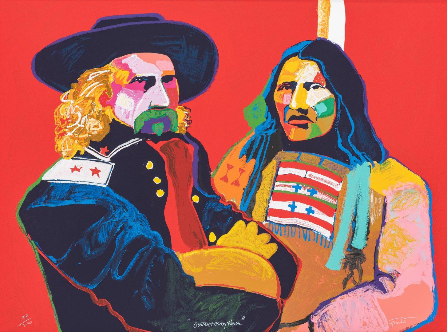 "Lot 583: Malcolm Furlow ""Custer & Crazy Horse"" Serigraph"