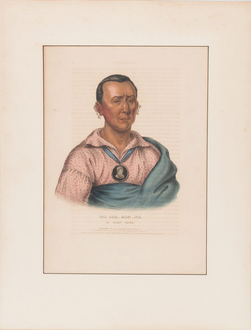 Lot 585: 5 McKenney & Hall Indian Lithographs