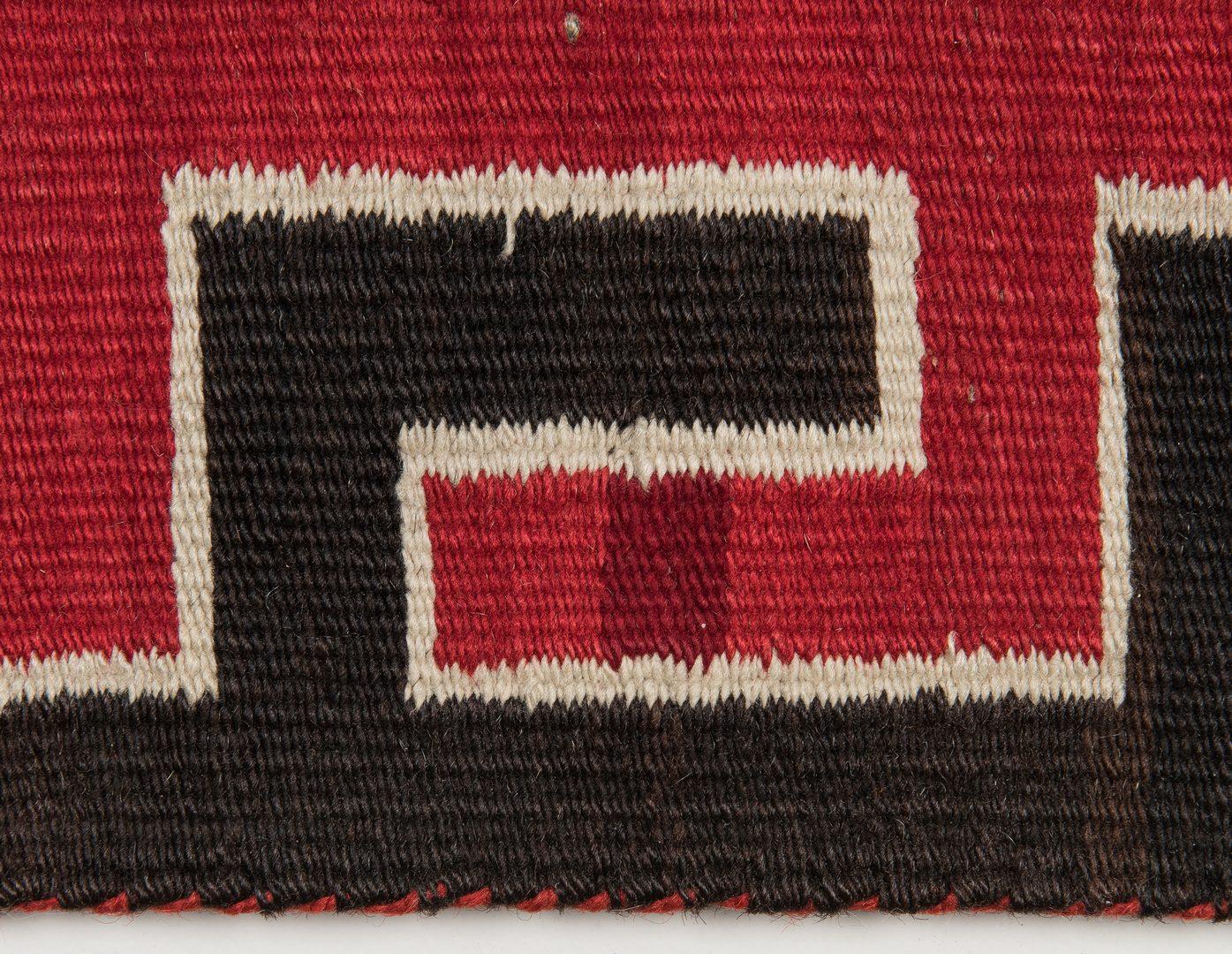 Lot 588: Navajo Yei Rug, 4.4 x 3.5, c. 1920