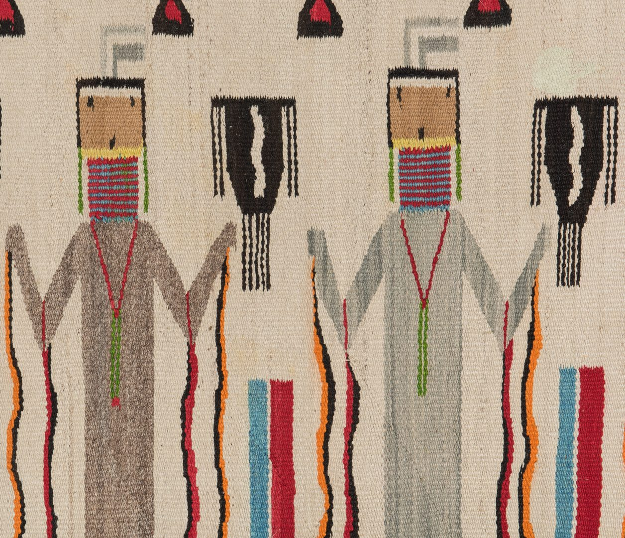 Lot 589: Navajo Yei Rug, 5.8 x 3.6, circa 1940
