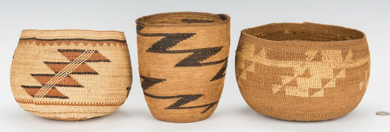 Lot 593: 3 Northwest Native American Baskets