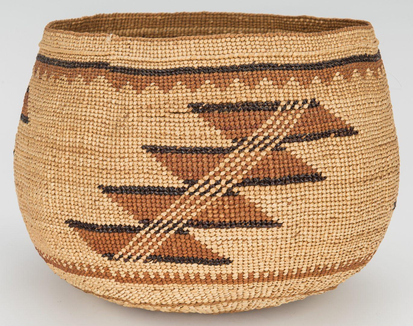 Lot 593: 3 Northwest Native American Baskets