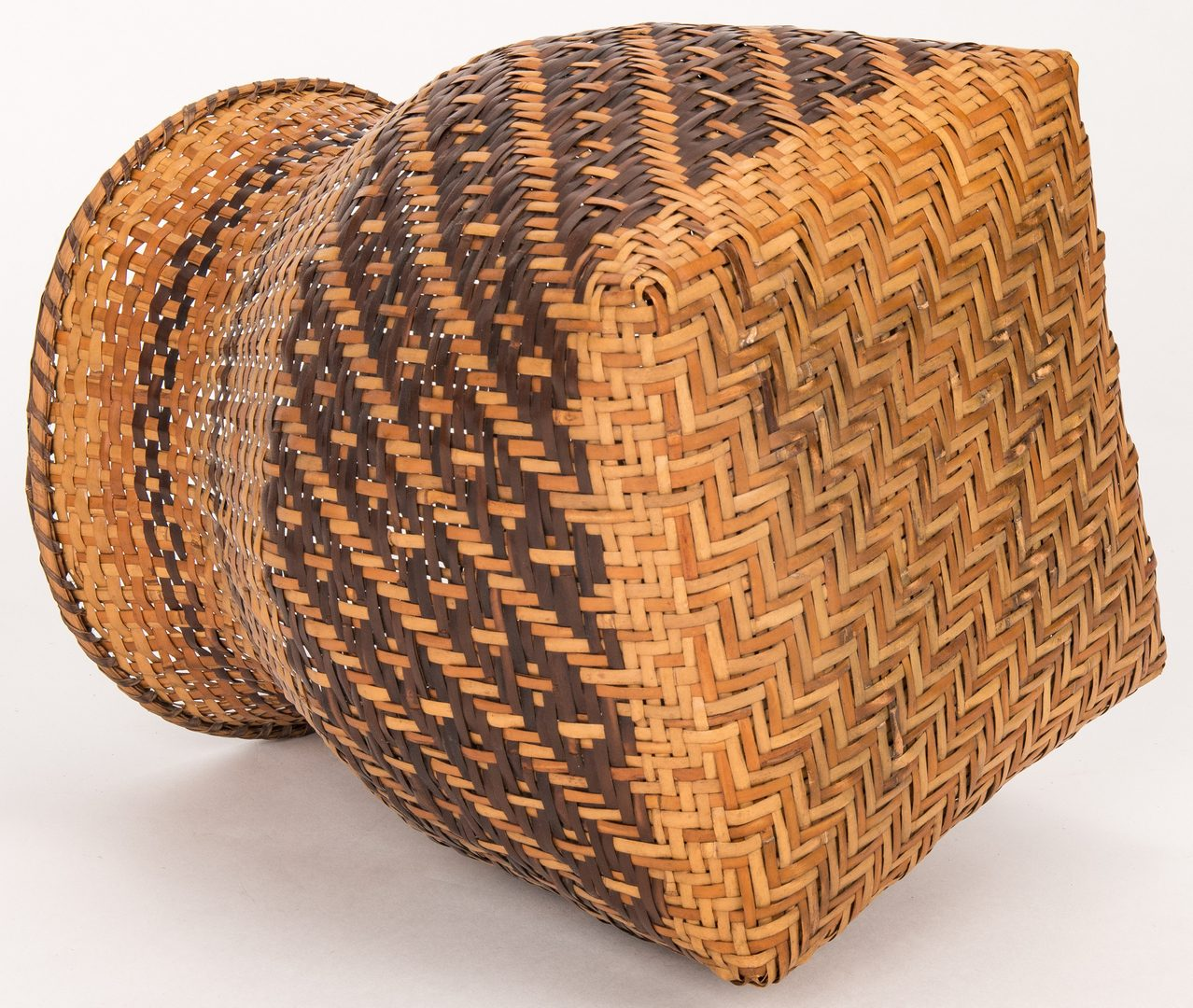 Lot 594: 2 Cherokee Rivercane Baskets