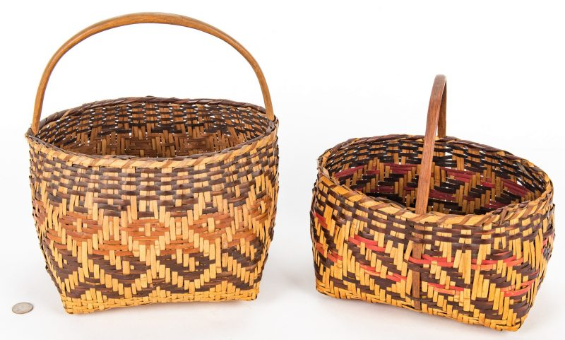 Lot 596: 2 Cherokee Rivercane Baskets