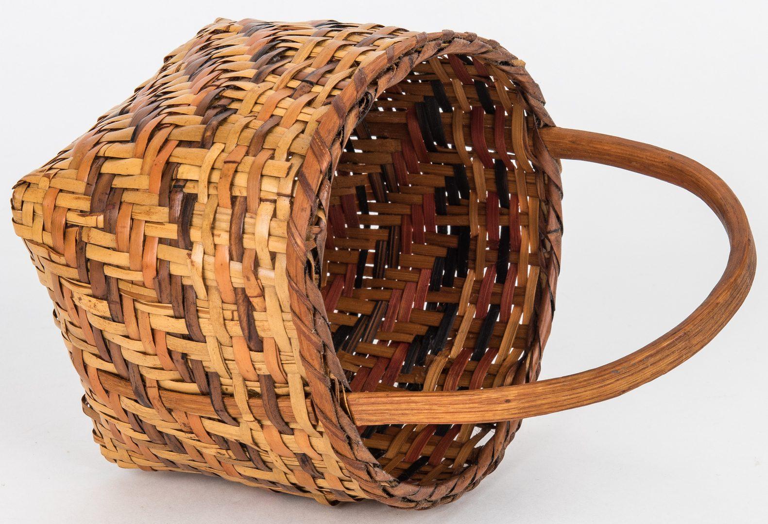 Lot 597: 3 Cherokee Rivercane Baskets