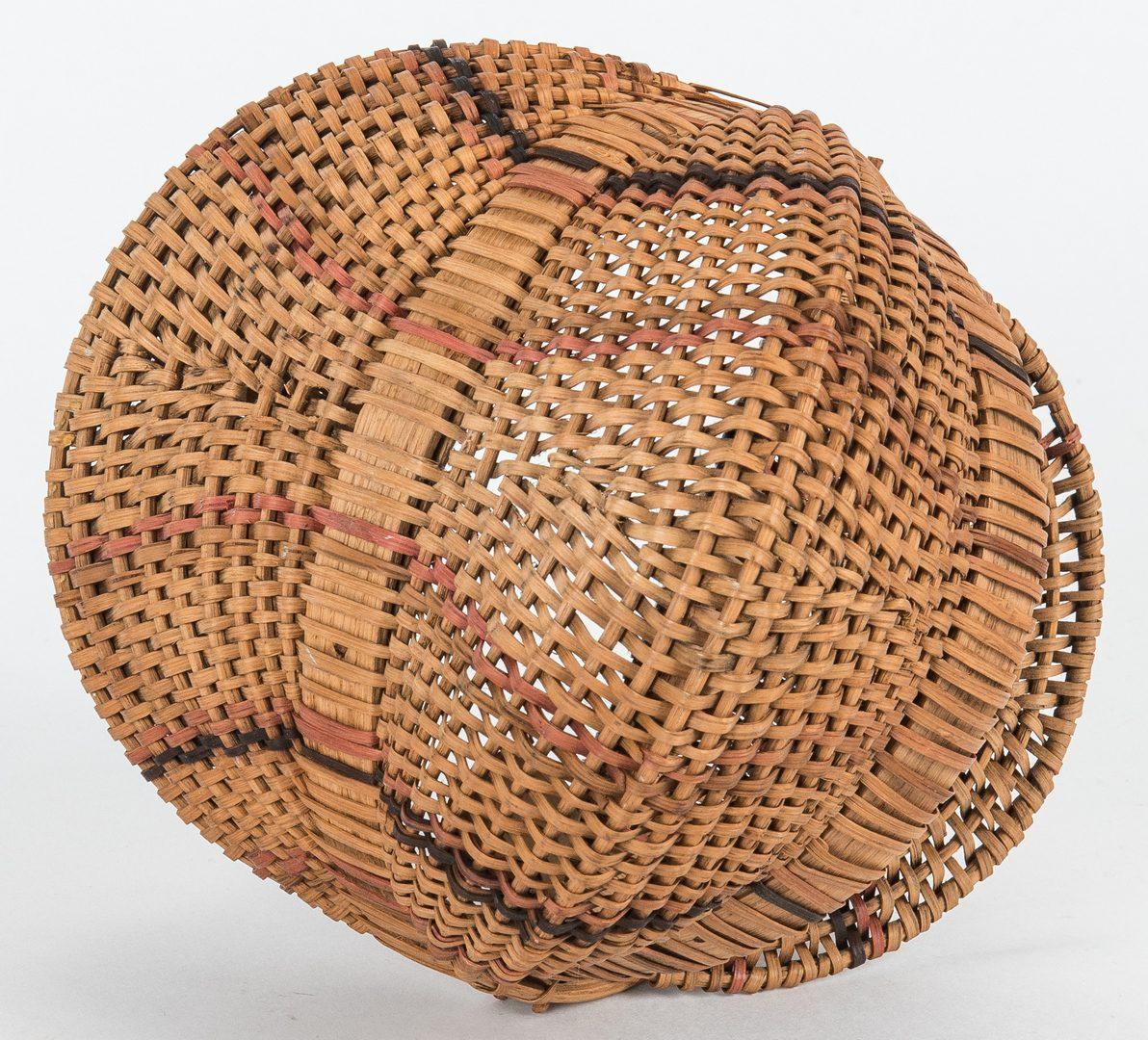 Lot 598: 5 Cherokee White Oak Baskets