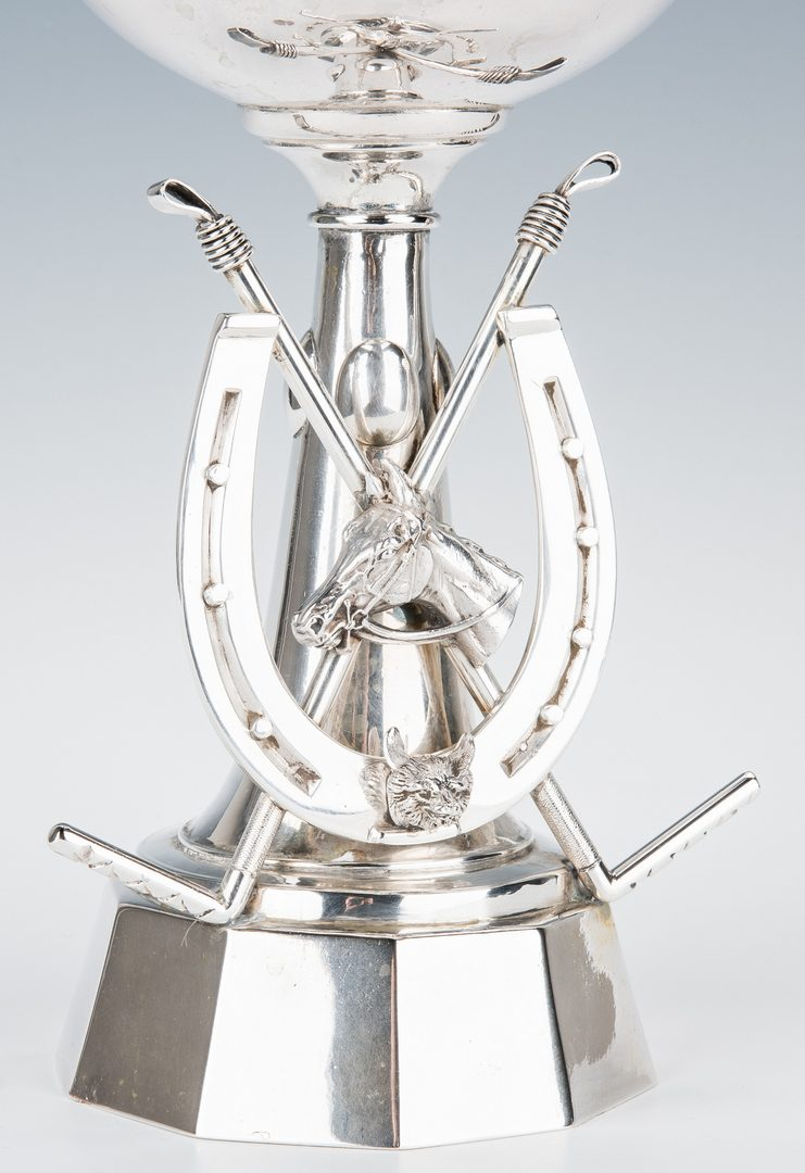 Lot 59: Equestrian Themed Silver Trophy Cup