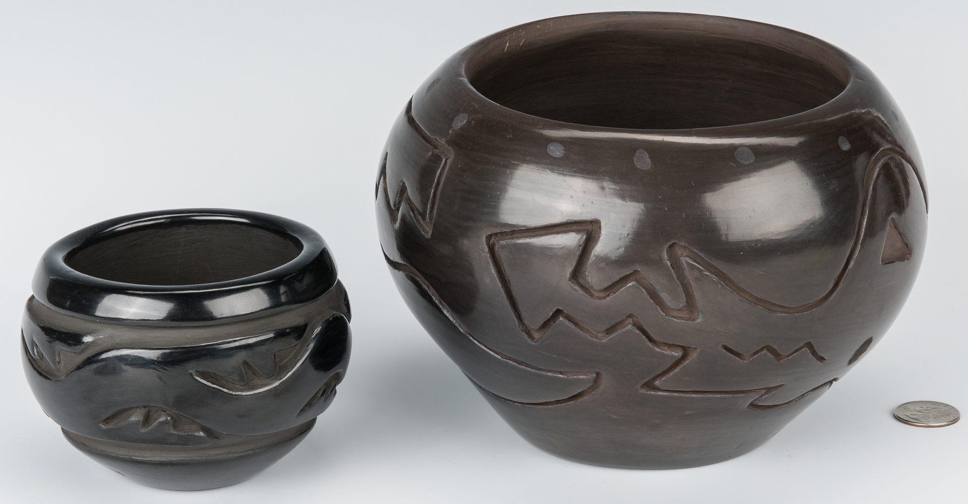 Lot 602: 3 Pueblo Pottery items, incl. Carmelita Dunlap, Elizabeth Naranjo