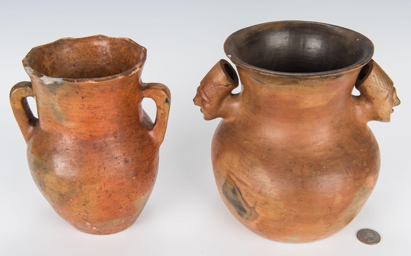 Lot 605: 6 Catawba Native American Pottery Pcs.