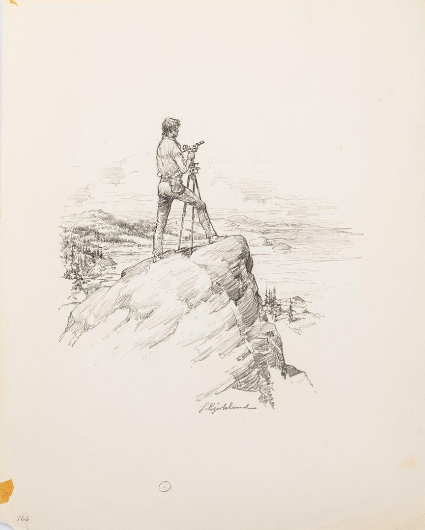 Lot 612: 15 Lorence F. Bjorklund Western Pencil Illustrations