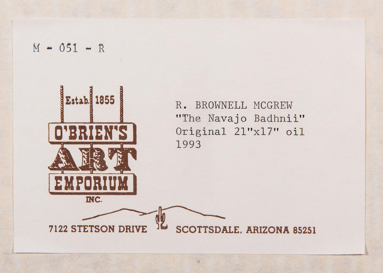 Lot 613: R. Brownell McGrew Oil on Board Portrait