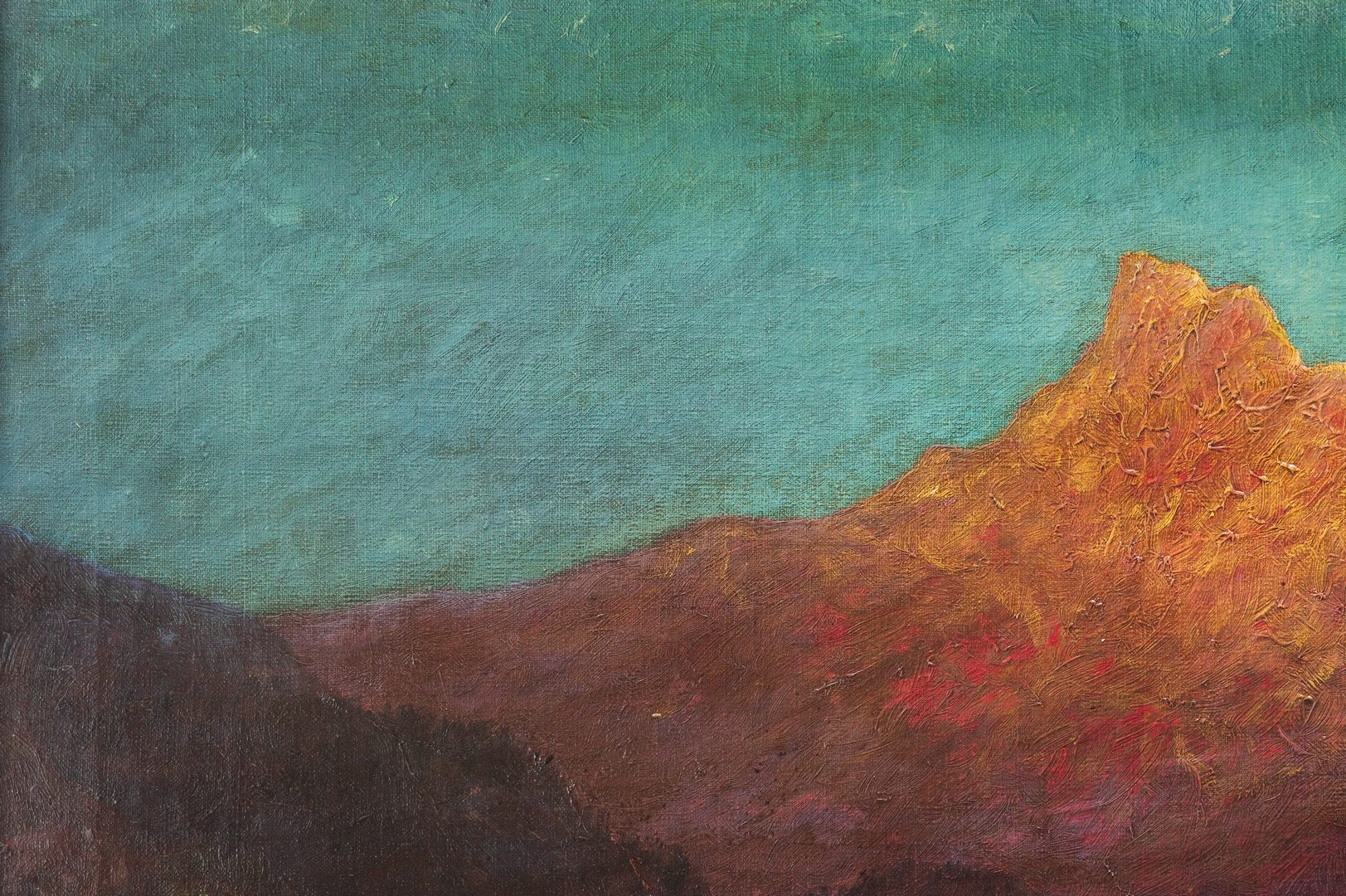 Lot 621: G. Sether, Oil on Canvas, View Mt. Hood