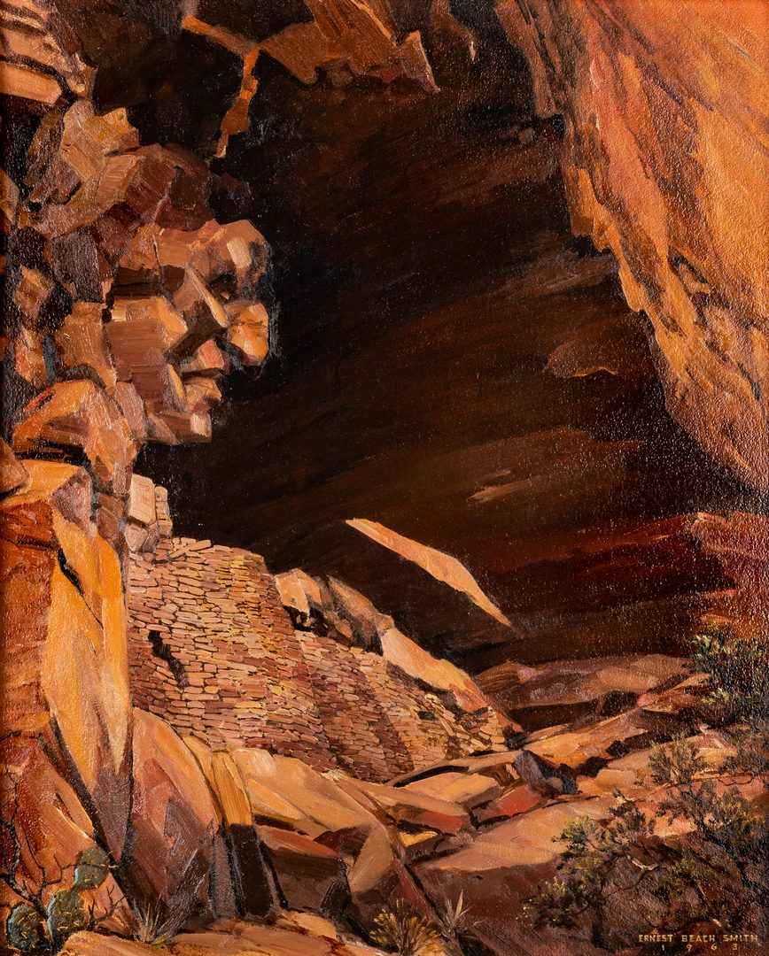 "Lot 623: Ernest B. Smith O/B Western Landscape ""Silence"""