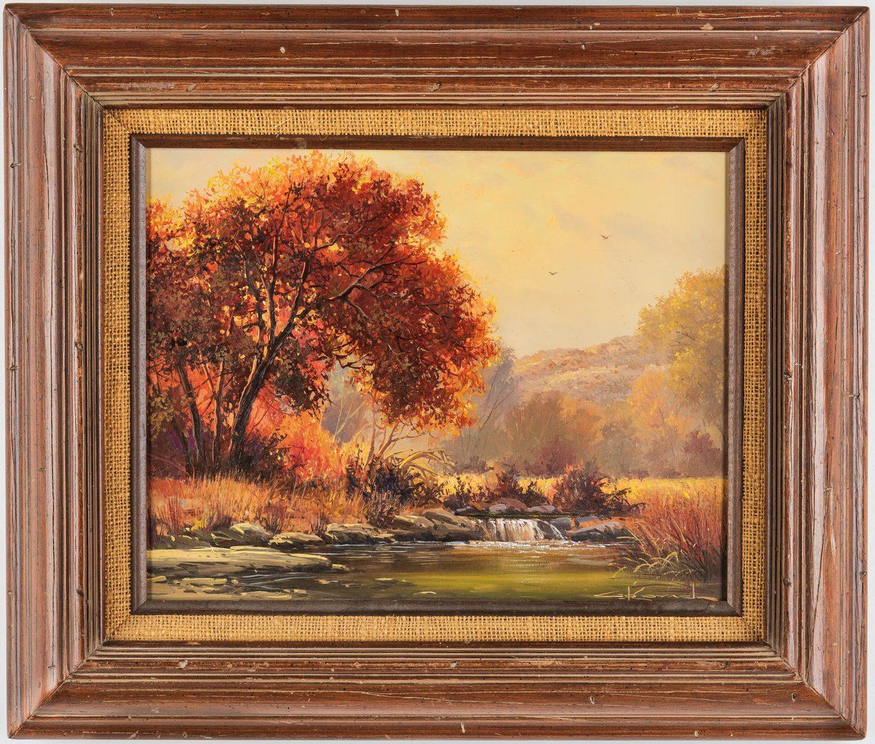 "Lot 624: George Kovach O/B Western Landscape, ""Autumn Splendor"""