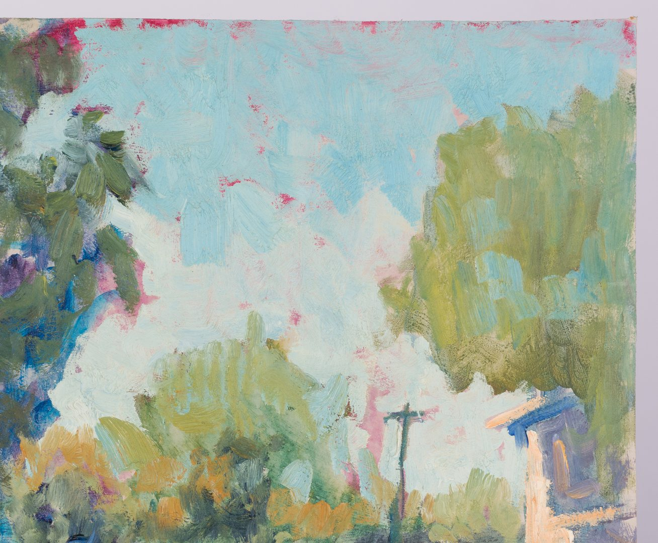 Lot 628: Earline Barnes Impressionist Street Scene