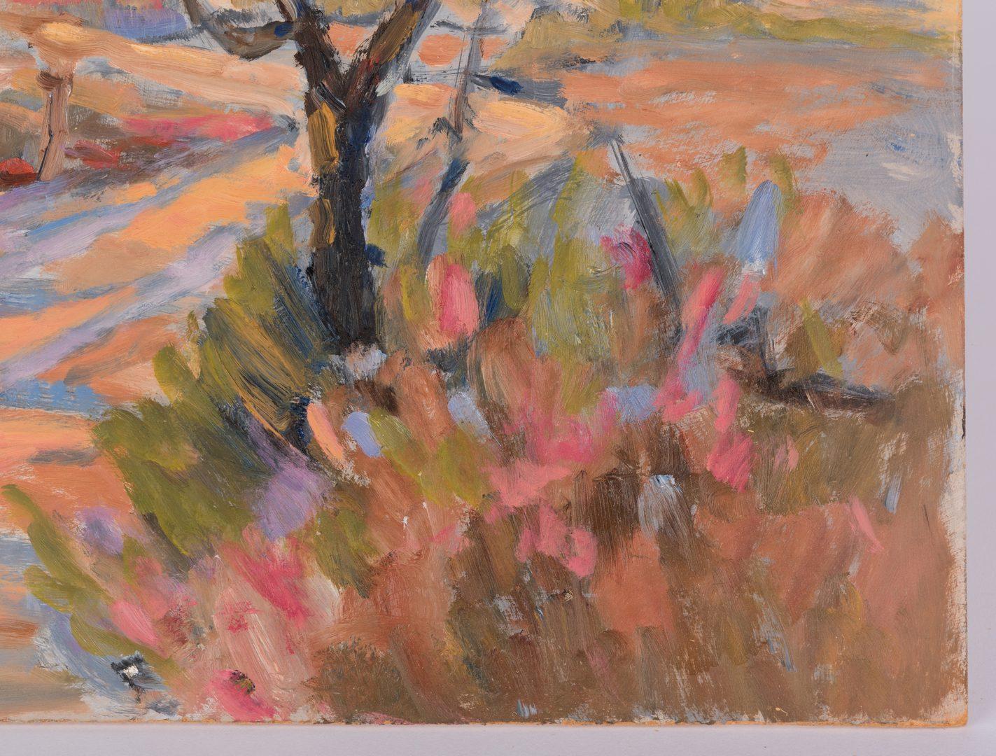 Lot 629: Earline Barnes Farmstead Landscape Painting