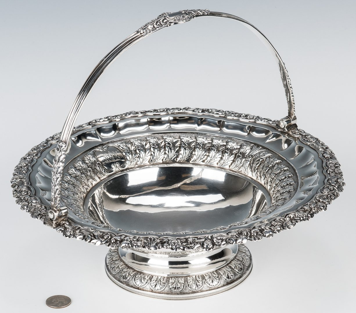 Lot 62: Emes and Barnard Sterling Cake Basket
