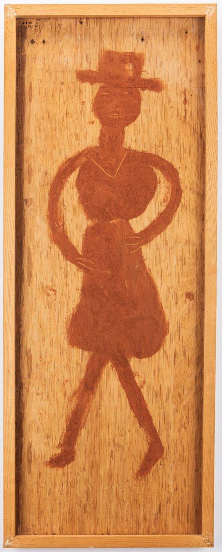 Lot 636: 2 Jimmy L. Sudduth Folk Art Portraits