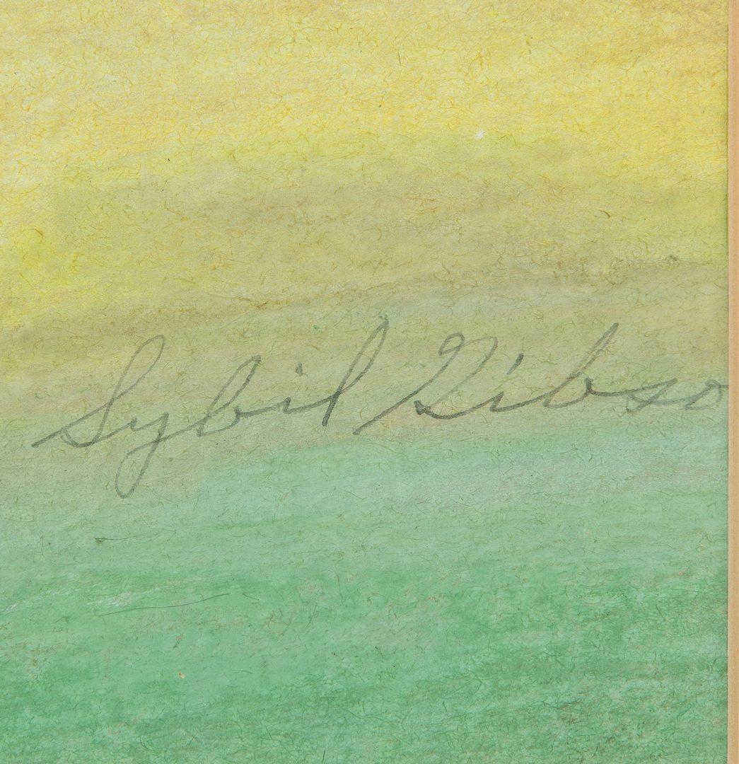 Lot 637: 2 Sybil Gibson Outsider Art Paintings