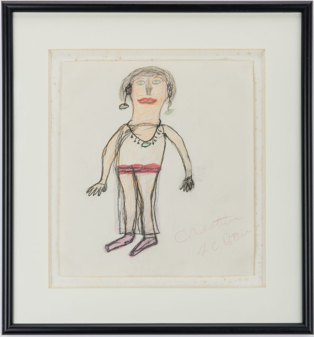 Lot 638: 2 Gerald DePrie Folk Art Drawings