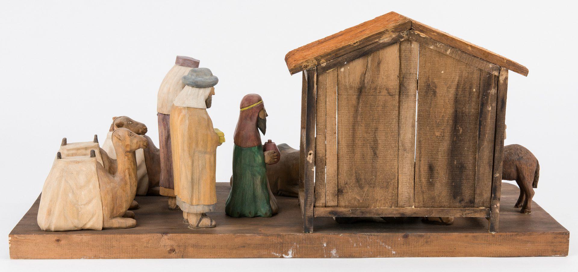 Lot 640: Roy Pace Folk Art Nativity Scene